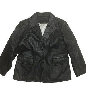 Steve Madden Black leather Jacket Women's Size L